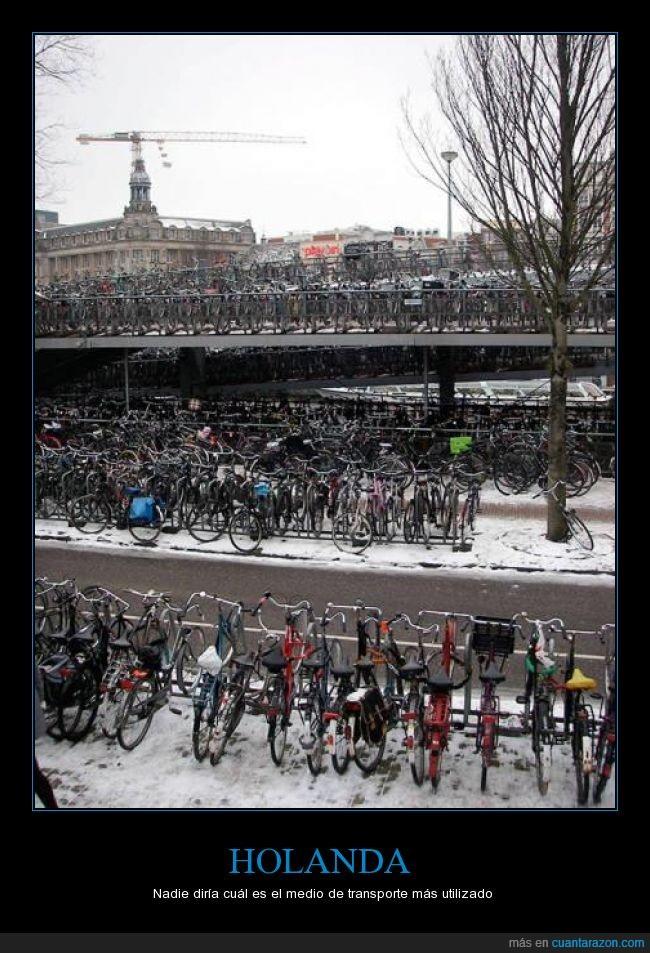 aparcamiento,bicicleta,estacionamiento,Holanda