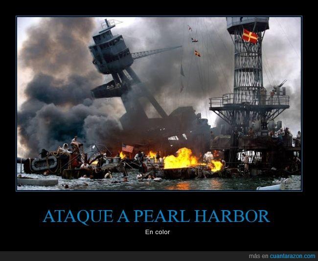 ataque,coloreada,Guerra,Japón,Pearl Harbor,USA