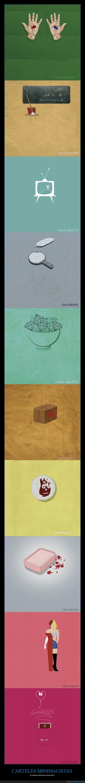 carteles,cine,minimalistas,peliculas,si miras la fuente ya no tiene gracia
