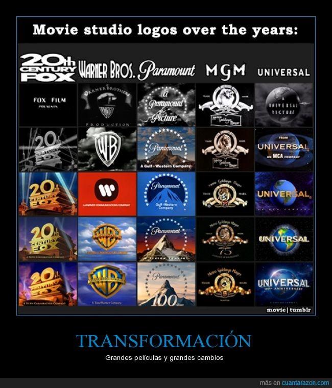estudios,evolución,Fox,logos,Metro Goldwyn Mayer,Paramount,Películas,Universal,Warner