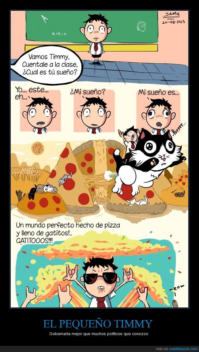 el mundo sería perfecto así,gatitos,lml,pizza,sueños