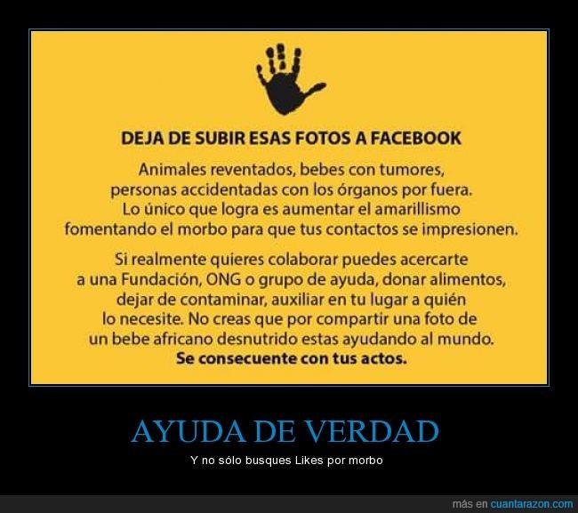 amarillismo,ayudar,facebook,fotos,likes,morbo