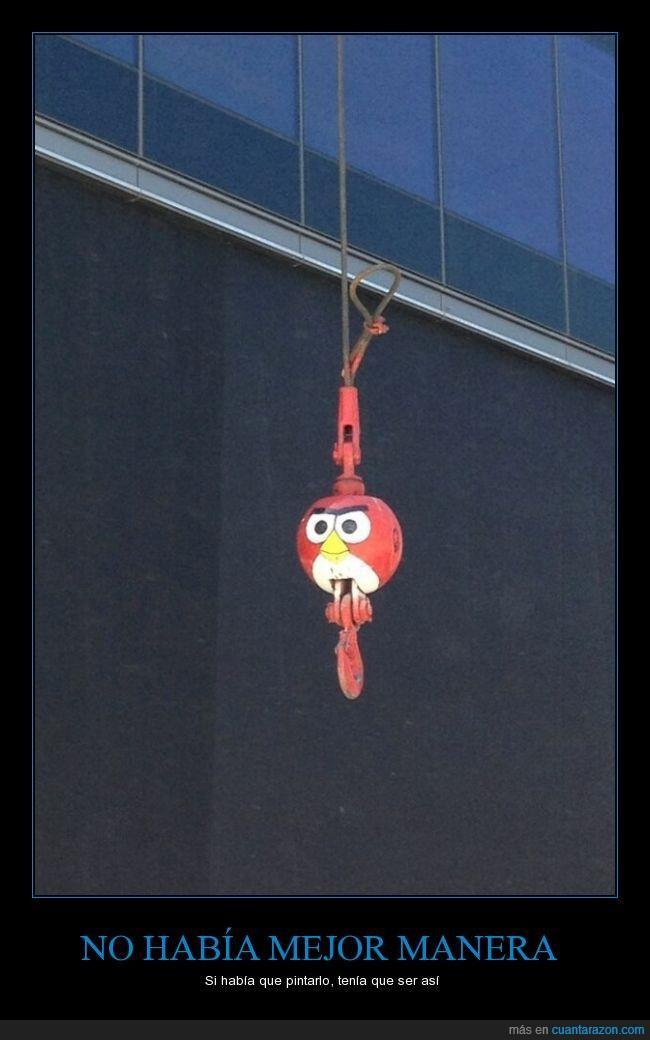 angry bird,Bola,bola de demolición,demoliciones,derrumbar,grúa,videojuegos