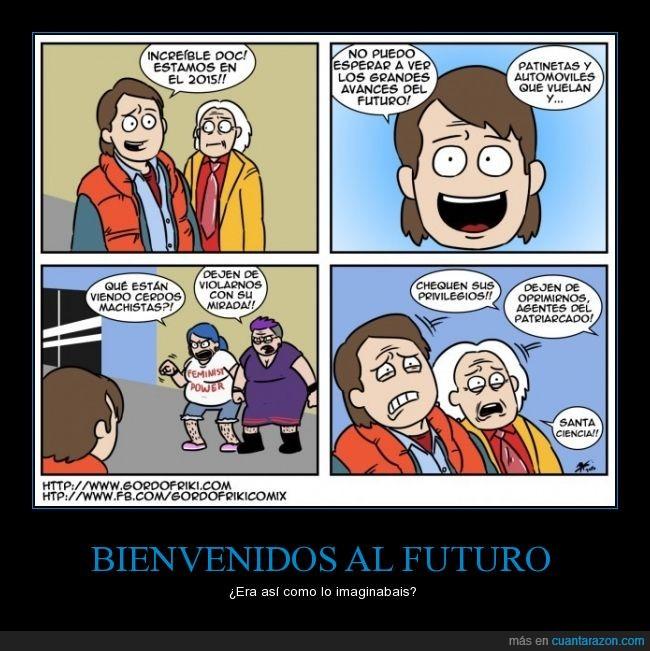 back to the future,cómic,dibujos,feminazi,feminismo,hembristas,patriarcado,película,Regreso al futuro,volver al futuro