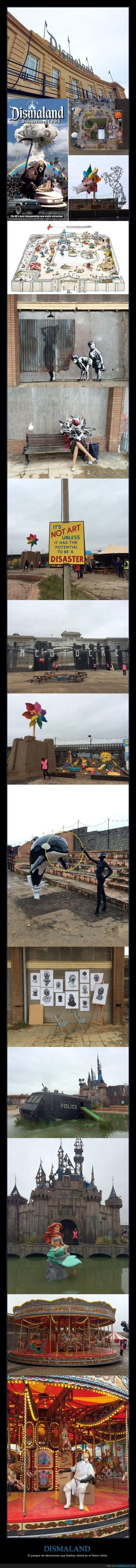 arte,atracciones,Banksy,graffiti,parque,parque de atracciones,Reino unido