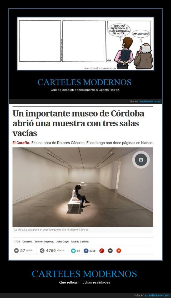 Argentina,arte,blanco,cartel,Córdoba,museo,salas en blanco,timadores,vacio,¿arte?