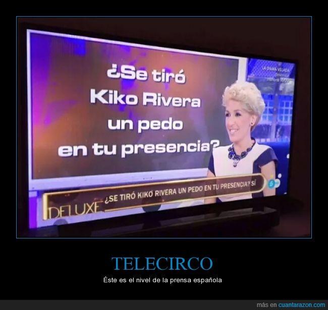 españa,Kiko Rivera,Paquirrin,pedo,prensa,presencia,Slavame Deluxe,Telecinco,telecirco