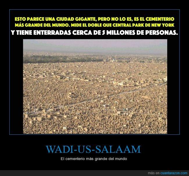 cementerio,gigante,mayor,record,wadi us salaam,wadi-us-salaam