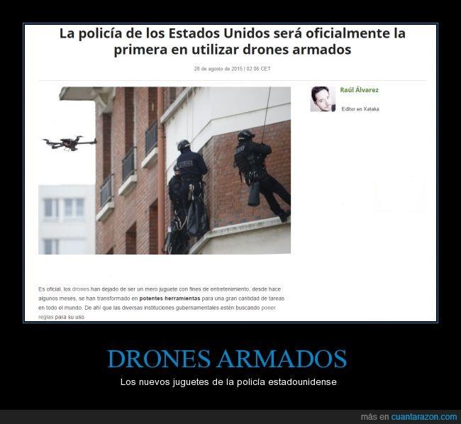 arma,disparar,Drones,Drones armados,EEUU,policia,USA,Xataka