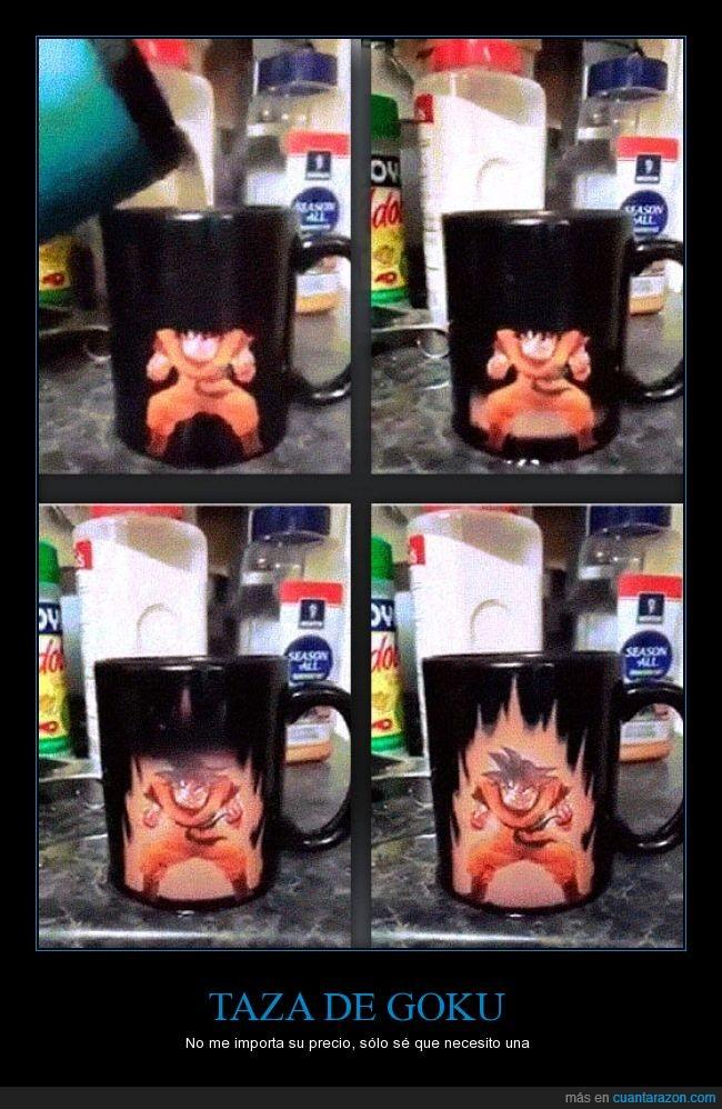 cafe,caliente,energía,fuerza,goku,quiero,taza