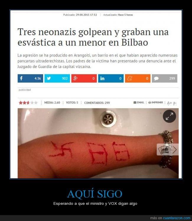88,Arangoiti,Bilbao,brazo,esvástica,menor,ministro,nazi,noticia,ultraderecha,vox