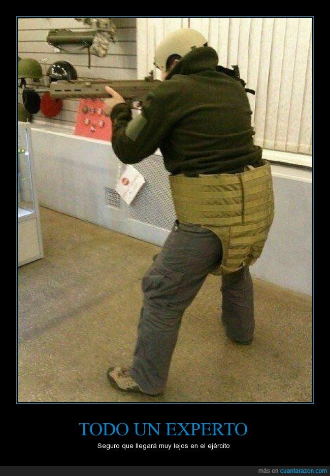 antibalas,arma,chaleco,ejercito,experto,Fail,lejos,pistola,soldado