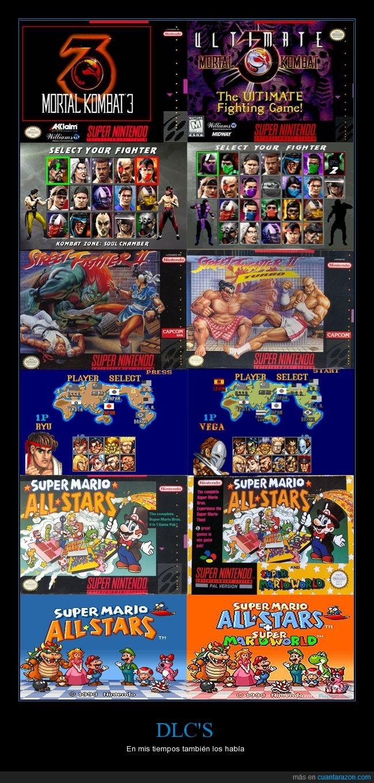 DLC,expansión,Mario,mortal kombat,nintendo,snes,Videojuegos