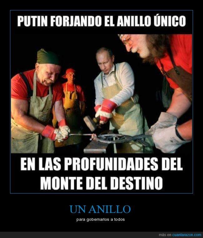 Anillo,anillo único,el señor de los anillos,putin,rusia,Sauromir Putin,señor