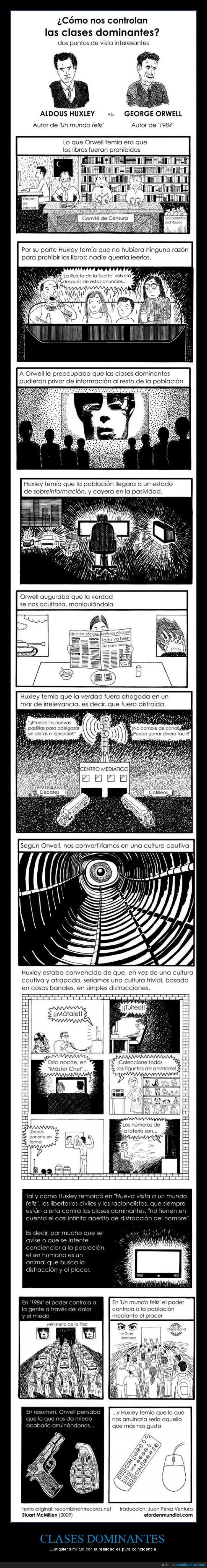 1984,Ambas están sucediendo ahora mismo,Huxley,Orwell,Un Mundo Feliz,¿No crees que es hora de cambiar?