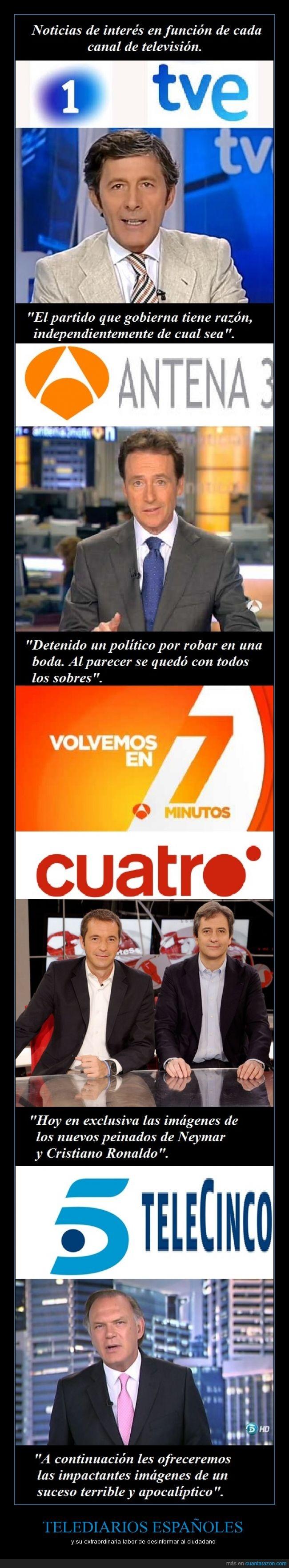antena 3,chistaco de matías prats,cuatro,españa,la 1,noticias,rigor periodístico,telecinco,telediario