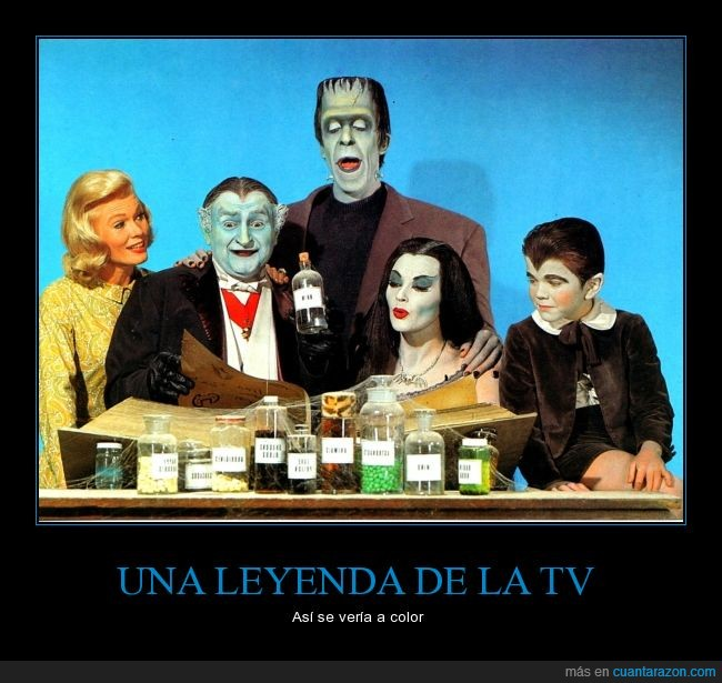 60's,Abuelo,actores,color,Eddy,Familia Monster,German,Lili,serie,yvonne de Carlo