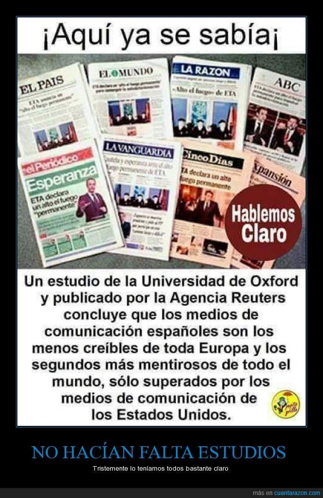 diarios,españoles,fiables,fuente,manipulación,manipulado,medios,mentira,noticias,Periódicos,prensa
