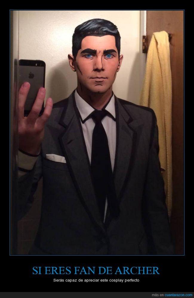 Archer,cosplay,disfraz,fan,maquillaje,perfecto,traje