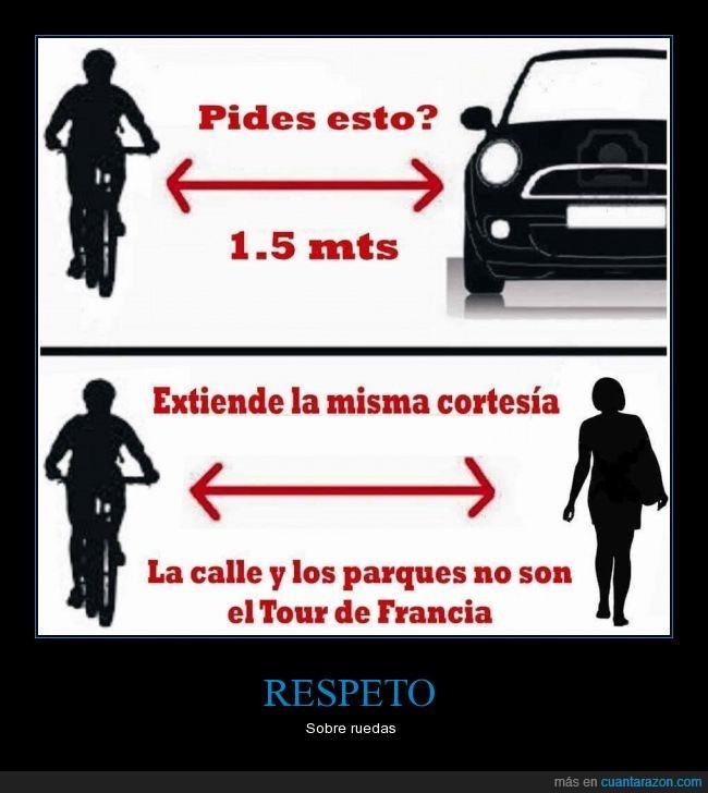 adelantar,atropellos,automovil,bicicleta,carril bici,cordialidad,espacio,metros,muerte,peaton,respeto,sanciones,seguridad,velocidad