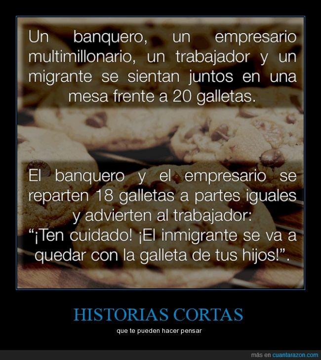 banquero,empresario,galletas,migrante,multimillonario,riqueza,trabajador