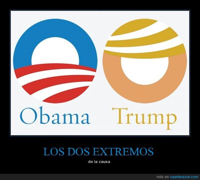 Donald trump,girar,logotipo,Obama,yes we can