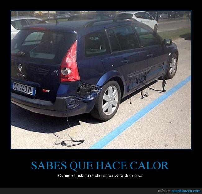 auto,azul,calentamiento,calor,derretido,mucho,pintura
