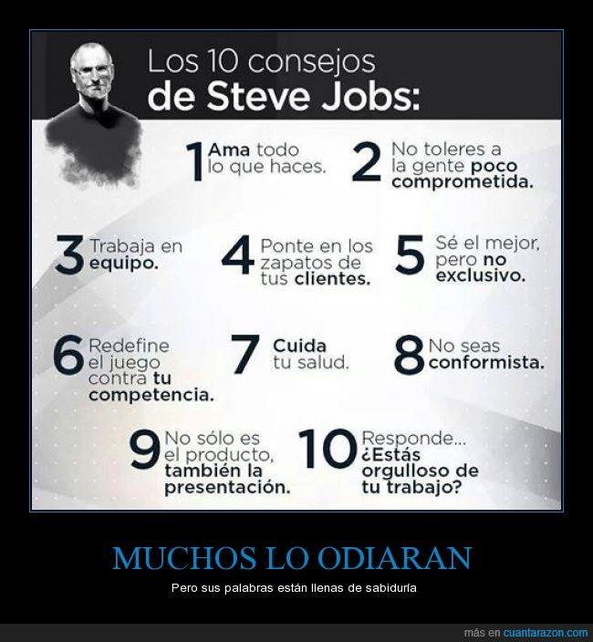 10,Consejos,Éxito,Marketing,Oficial,pasos,Steve Jobs