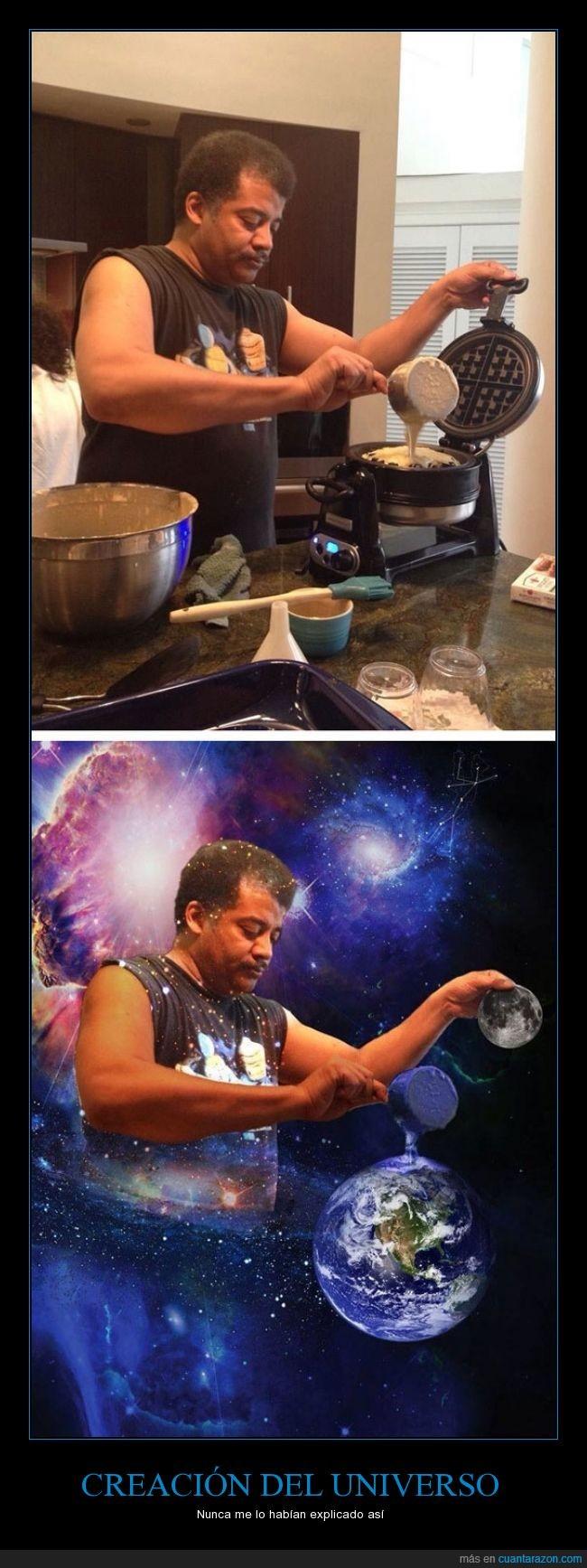 creación,dios,Neil DeGrasse Tyson,planeta,Tortitas,universo