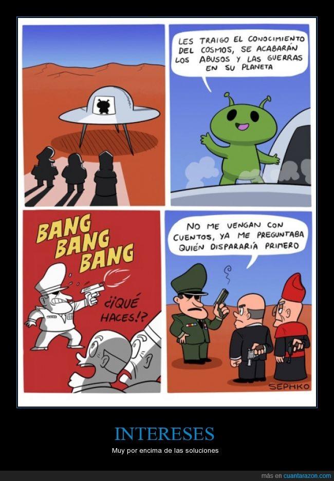 alien,alienigena,ciencia,conocimiento,disparar,extraterrestre,gobierno,iglesia,matar,paz