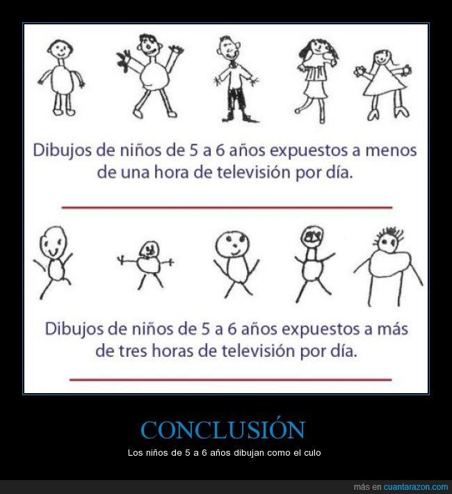 actualidad,años,cinco,conclusion,dibujan,dibujar,dibujo,fatal,niño,seis,television
