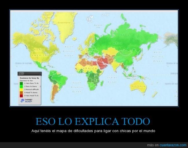 chicas,España,explicación,ligar,lo tenemos chungo,mapa,mundo