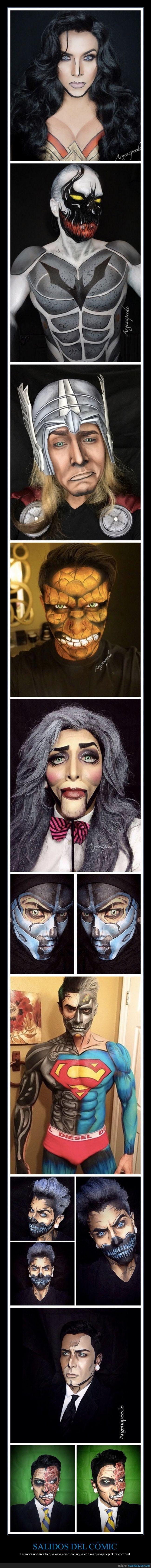 chico,comic,maquillaje,special fx,sub-zero,wonder woman