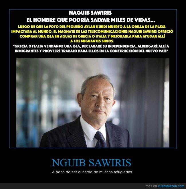 comprar,isla,millonario,NGUIB SAWIRIS,refugiado,salvar,siria,vida,vivir