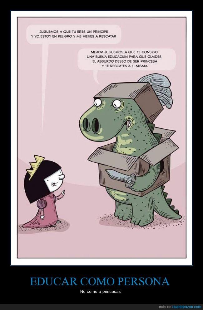 dragon,educacion,educar,mujer,princesa