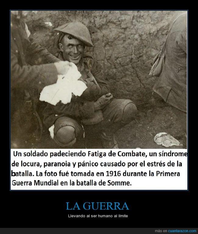límite,locura,Primera Guerra Mundial,sindrome,soldado