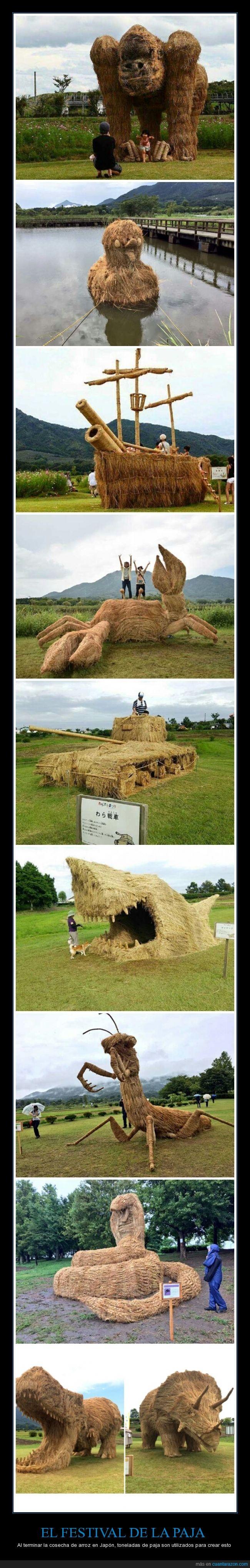 animales,cosecha de arroz,Japón,Paja,septiembre,Wara Art Festival