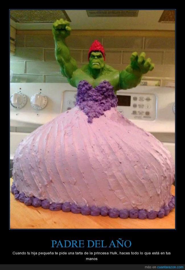 hulk,princesa,tarta,vestidito