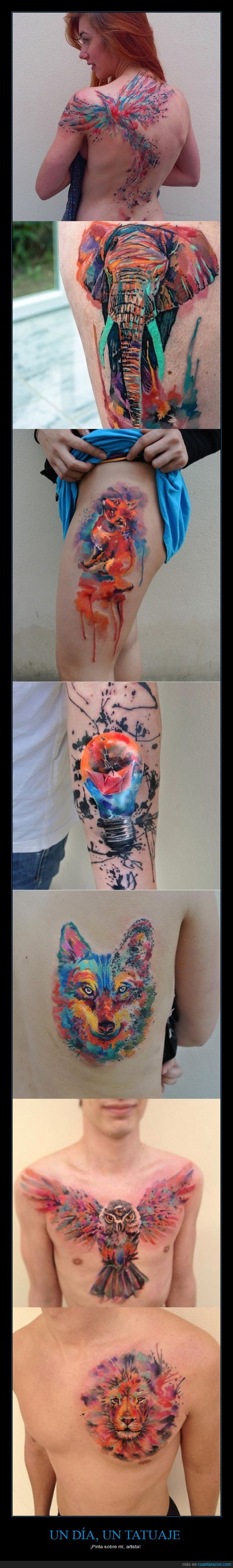 acuarela,artista,belleza,dibujo,pintura,tatuaje