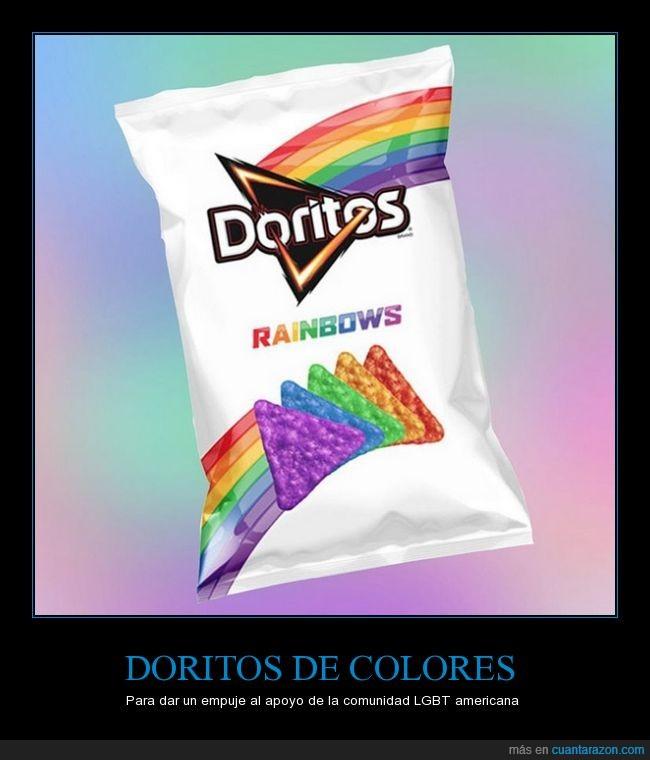 americanos,colores,doritos,lgbt,patatas