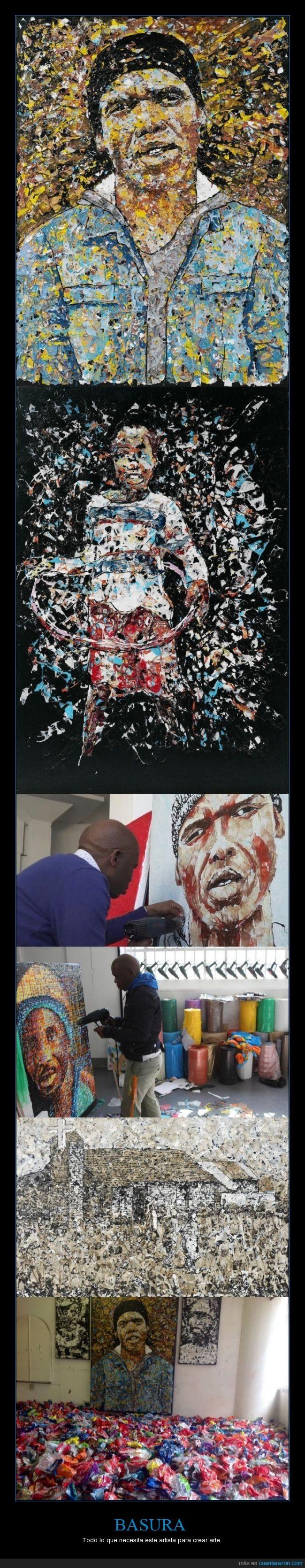 arte,artista,basura,buthelezi,cuadros
