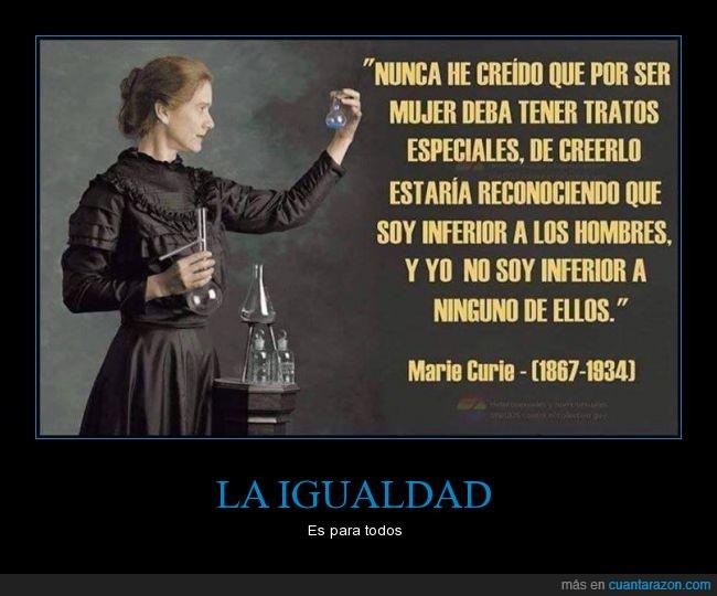 feminismo,Genero,igualdad,Marie Curie