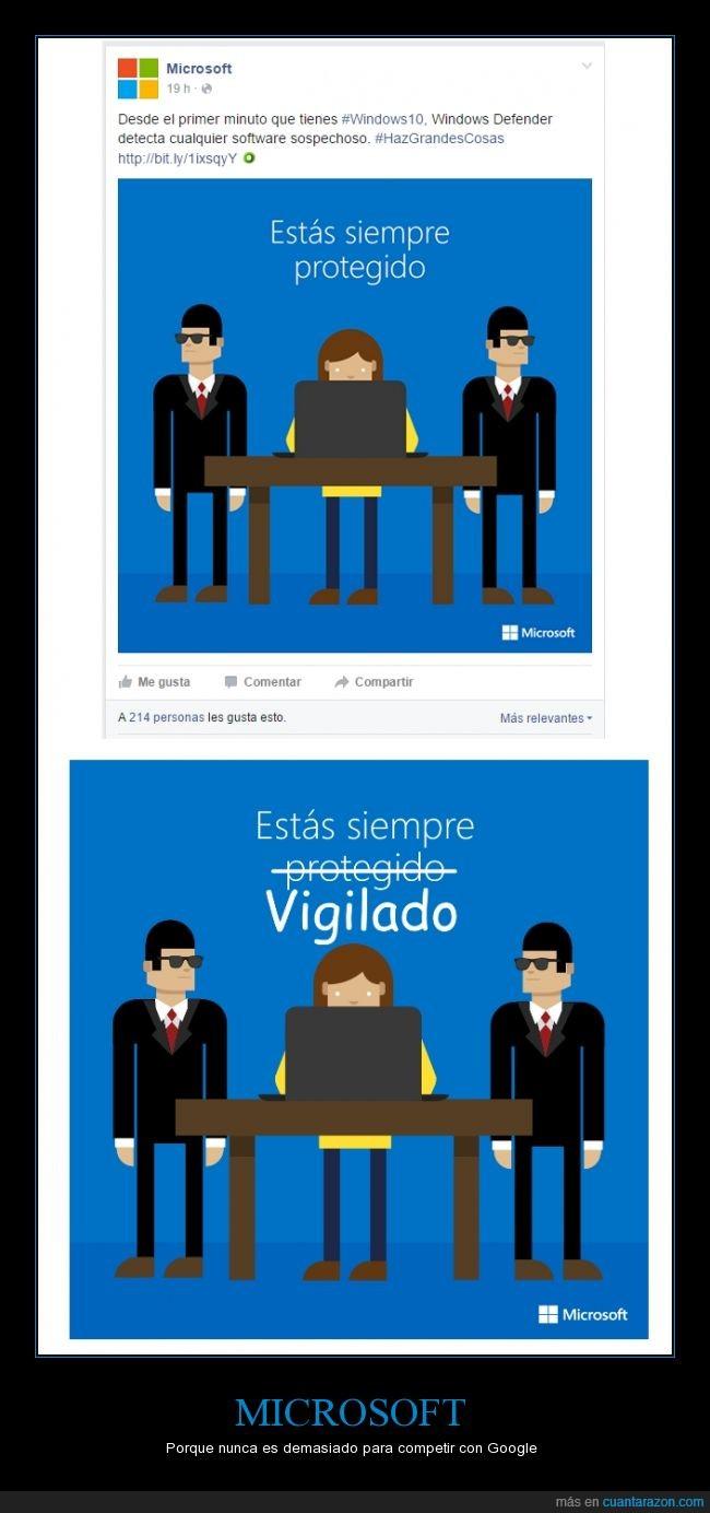 Google,Microsoft,Privacidad,Seguridad