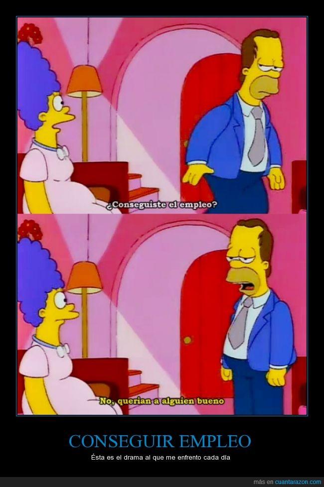 alguien bueno,alguien quiere pensar en los malos,dificil,dinero,empleo,Homer,Marge,ser pobre,Simpson,trabajo