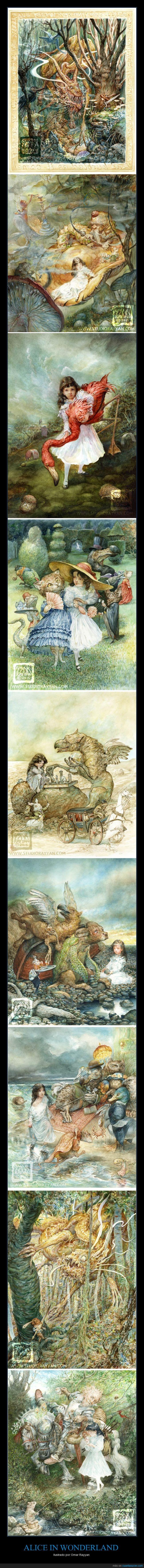 Alicia,Alicia en el país de las maravillas,Arte,Omar Rayyan,Wonderland