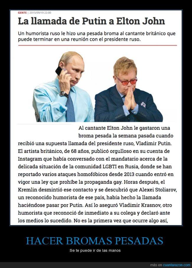 broma,Elton John,fail,gay,inapropiado,Kremlin,presidente,Putin,Rusia,tensión,Ucrania