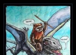 Enlace a ¿Qué pasaría si se uniesen Star Wars y Jurassic Park?