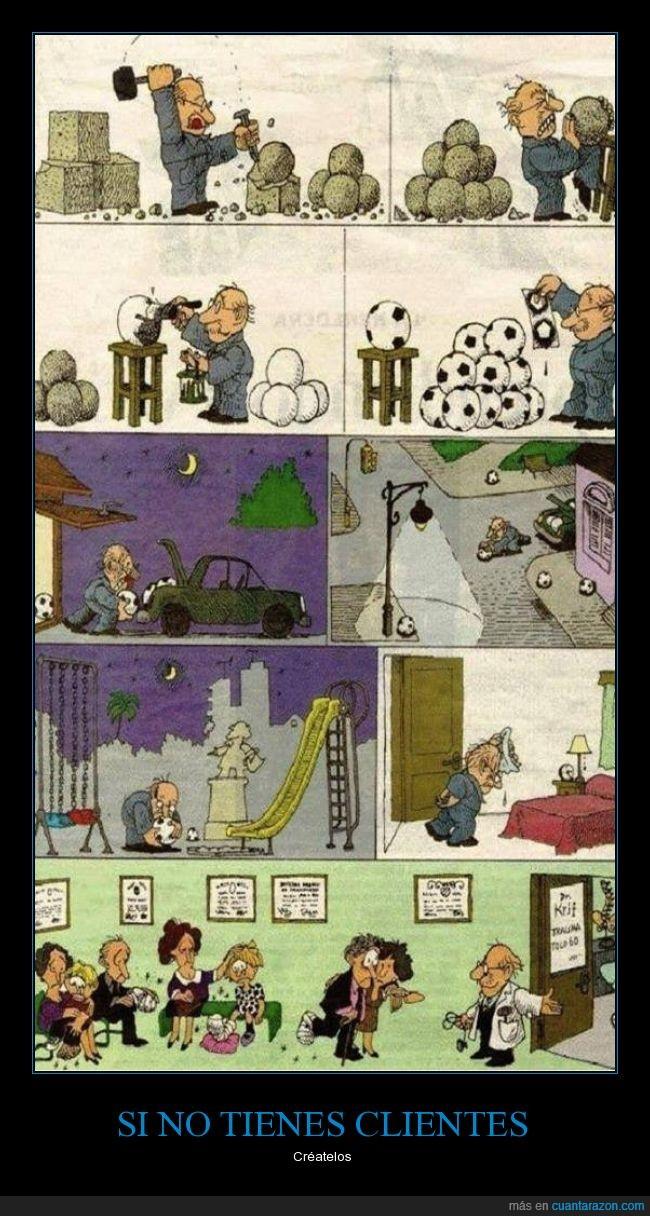 caricatura,cómic,curar,dibujos,Doctor,historieta,Humor,pelota,piedra,pintar,Quino,salvar