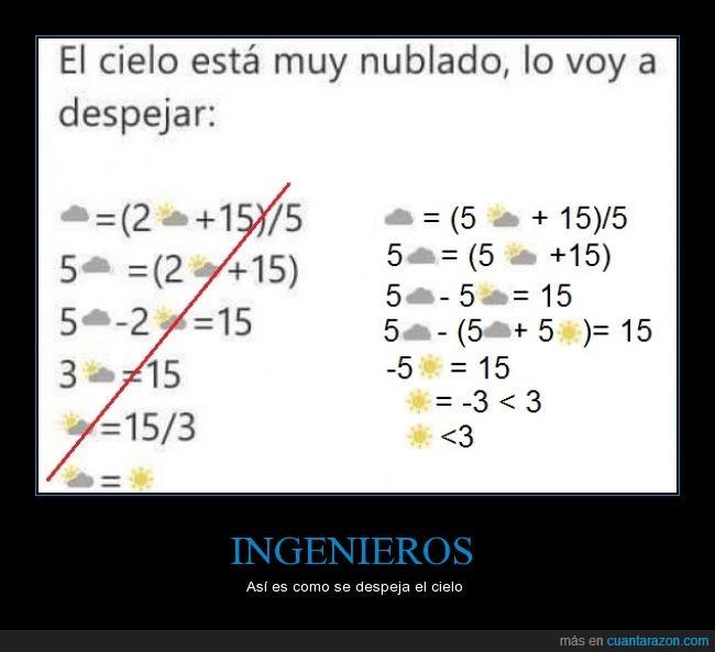 amor,cielo,despejar,ingenieria,ingeniero,matemáticas,nubes,sol