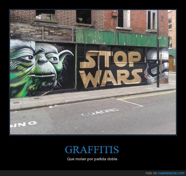 arte,calle,cartel,graffiti,pintura,star wars,stop wars